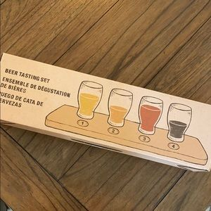 Crate & Barrel Beer Tasting set